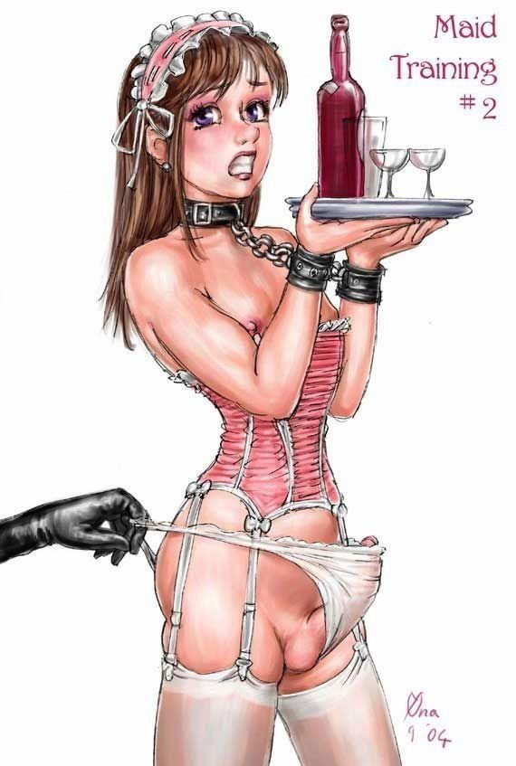 Captions sissy maid